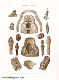 Thebes. Hypogees. Peintures d'Enveloppes de Momies, et Divers Fragmens en Bois Peint, en Pierre et en Bronze