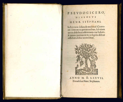 8vo (158x93 mm). , 228 pp. Collation: *2 a-n8 o-p4 q2. With the printer's device on the title-page. ...