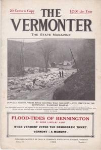 image of The Vermonter Magazine Flood-Tides Bennington 1928