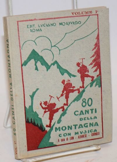 Rome: Luciano Morpurgo, 1953. 117 p., softcover, printed on cheap paper which has, however, been qui...