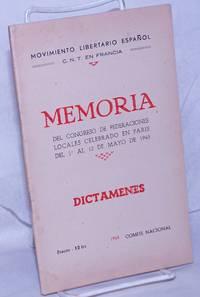 image of Memoria del Congreso de Federaciones Locales celebrado en Paris del 1.o al 12 de Mayo de 1945, Dictámenes