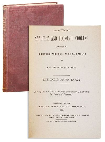 Rochester, NY: American Public Health Association, 1890. First Edition. Hardcover. 12mo (18.5cm.); p...