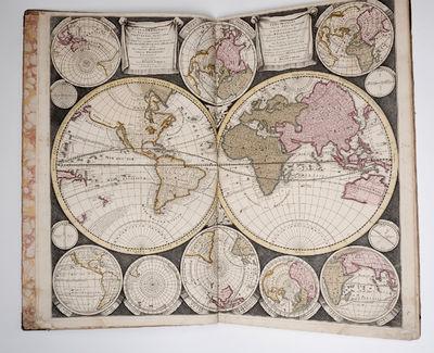 World Map By Peter Schenk The Elder.Vialibri Atlas Contractus Sive Mapparum Geographicarum Sansoniarum