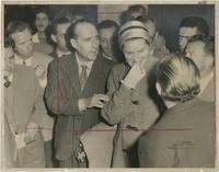 image of Original photograph of Ingrid Bergman and Roberto Rossellini in Rome, 1957
