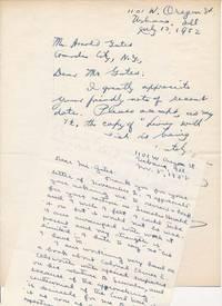 Autograph Letters Signed