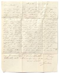 An 1859 Letter by Gustavus Hall, a rising American Baritone, explaining his decision to Study Opera under Domenico Scafati in Italy