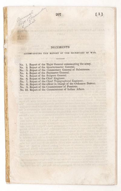 [Washington, D.C.: Government Printing Office, 1846. Senate Executive Document, no. 2. pp. 207-220. ...