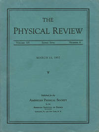 Report on Long-Lived K0 Mesons in Physical Review 105, March 15, 1957, pp. 1925 - 1927