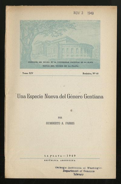 La Plata, Argentina: Museo De La Plata, 1949. Softcover. Very Good. First edition. Tomo XIV, Botanic...