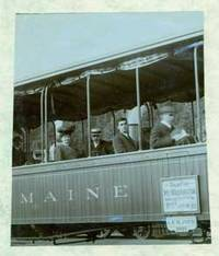 Photograph of the open train for Mt. Washington, Maine in 1905.