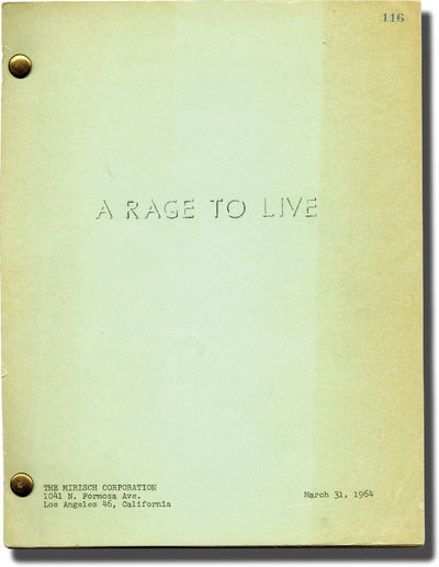 Beverly Hills, CA: United Artists, 1964. Draft script for the 1965 film. A young woman, Grace Caldwe...