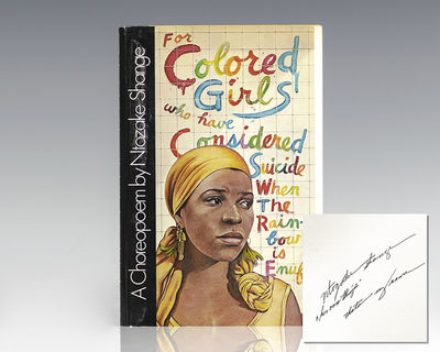 New York: Macmillan, 1977. First edition of Ntozake Shange's first work and most acclaimed theater p...