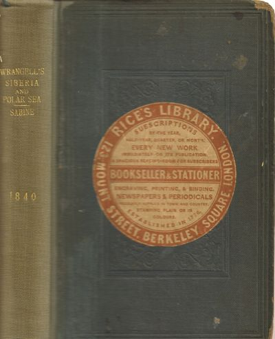 London: James. Good with no dust jacket. 1840. First Edition. Hardcover. Blue blind embossed origina...