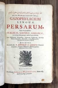 Gazophylacium linguae Persarum triplici linguarum clavi, Italice, Latine, Gallice