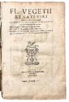 View Image 6 of 6 for De Re Militari libri quatuor. Sexti Julii Frontini Viri Consularis de Strategematis libri totidem. A... Inventory #39478