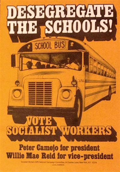 New York: Socialist Workers 1976 National Campaign Committee, 1976. Poster, 11x17 inches, very good,...