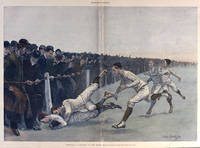 Football - A Collision at the Ropes. - Drawn by Frederic Remington