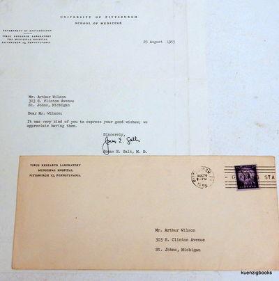 Pittsburgh, Pennsylvania: , 1955. First Edition. Near Fine. First Edition. Single 8 1/2 x 11 inch sh...