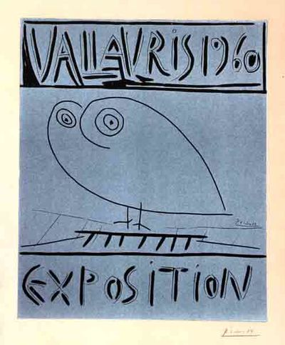 Pablo Picasso, Spanish (1881 - 1973) Vallauris Exposition 1960 Linocut on Arches, (Bloch 1290, )sign...