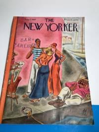 NEW YORKER MAGAZINE AUGUST 17 1935 FOREIGN SEAPORT ARTIST ,SMOKING WOMEN.