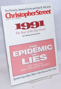 Christopher Street: #170; The Epidemic of Lies part one by  et al  Jeffrey Nickel - First Edition - 1992 - from Bolerium Books Inc., ABAA/ILAB (SKU: 238598)