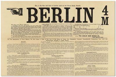 East Berlin, CT: Berlin Iron Bridge Co, ca. 1890s. Large broadside (31.75x47cm.); previous mail fold...
