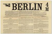 Broadside: This is the Size and Style of Letters used on our Patent Guide Boards. BERLIN 4 / M.