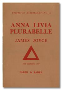 ANNA LIVIA  PLURABELLE  FRAGMENT OF  WORK IN PROGRESS
