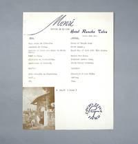Vintage Restaurant Menu, Hotel Rancho Telva, Taxco, Mexico