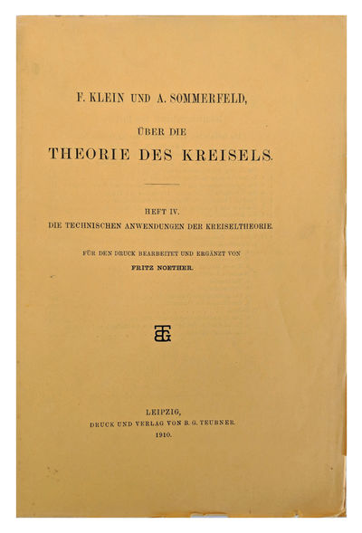 Leipzig:: B. G. Teubner, 1910., 1910. 8vo. VIII, , -966, pp. 31 figs., index. Original yellow printe...