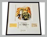 Jon Pertwee Nicholas Courtney Autograph Doctor Who Framed Artwork Signed Chris Archilleos Target...