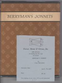 BERRYMAN'S SONNETS by  John Berryman - First edition - 1967 - from Alexander Rare Books and Biblio.com