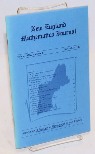 Westfield: Association of Teachers of Mathematics in New England, 1986. 44p., 5.5x8.5 inches, illust...
