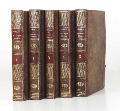 Folding engraved plate in Vol. IV. Five vols. Large 4to, cont. polished mottled calf (joints & a few...