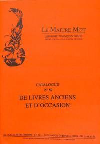 Catalogue 59/n.d.: Livres Anciens et D'occasion. Gastronomie, Vins,  Oenologie, Bibliographie, Littérature, Varia, Histoire, Flandres Artois  Picardie.
