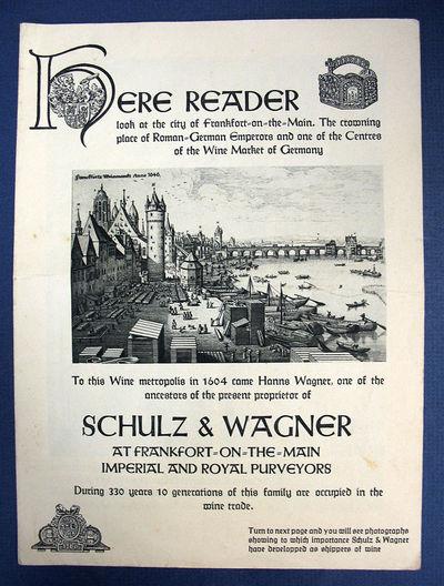 Frankfort-on-the-Main: Schulz & Wagner, (n. d.). 1st printing (presumed). Beige printed paper. Modes...