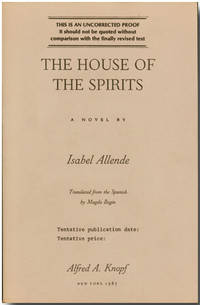 The house of the spirits by isabel allende 1985 from for House of spirits author