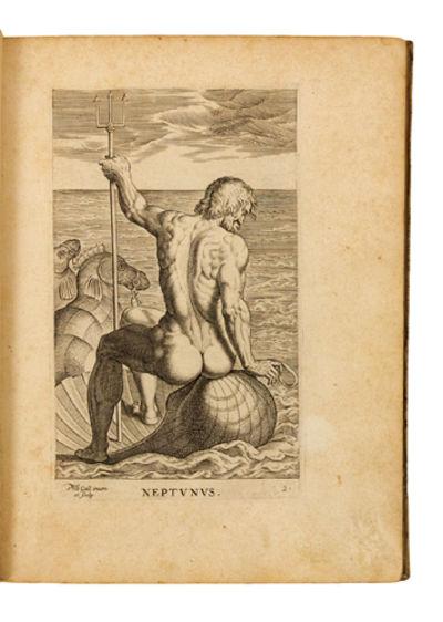 1586. GALLE, Philippe. Semideorum marinorum amnicorumque sigillariae imagines perelegantes in pictur...