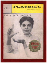 Playbill Opening Night Program - The Miracle Worker. October 19, 1959. Anne Bancroft, Patricia Neal, Patty Duke, Torin Thatcher, Michael Constantine. Volume 3, NUmber 42