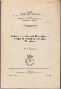 Surface Deposits and Ground Water Supply of Winnipeg Map Area, Manitoba