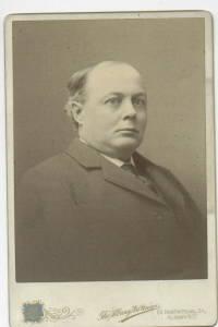 E.F. BAKER NEW YORK REPRESENTATIVE CABINET PHOTO 1898