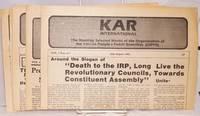 KAR International. [five issues]