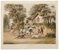 [Set of Four] Coursing. Plate I. Going out.; Plate II. Finding; Plate III. The Hare's Last Effort; Plate IV. The Death