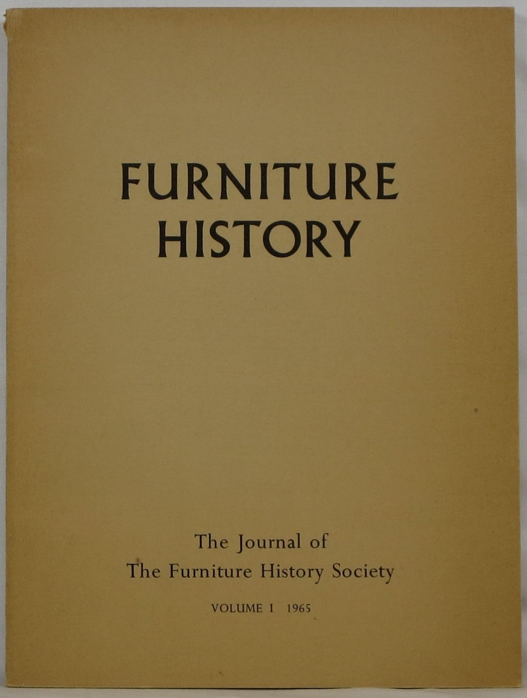 the journal of the furniture history society volume 1 by