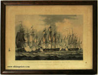 Capture of La Prevoyante and La Raison, May 17th. 1795. / Capture of Le Sparviere, May 3rd. 1810. / Capture of La Reunion - Octr. 21st 1793. / Capture of the Argus, Augt. 14th. 1813. SET OF FOUR FRAMED PRINTS by MILITARY - NAVAL) Whitcombe, T. (illus), T. Sutherland, J. Bailey, and J. Jeakes -  1816.
