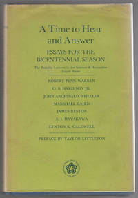 A Time to Hear and Answer: Essays for the Bicentennial Season