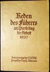 View Image 1 of 5 for Reden des Fuhrers am Parteitag der Arbeit 1937 Inventory #25557