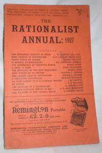 The Rationalist Annual: 1927