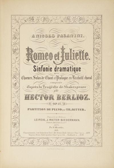 Leipzig: J. Rieter-Biedermann , 1875. Large octavo. Half dark brown cloth with marbled boards, origi...