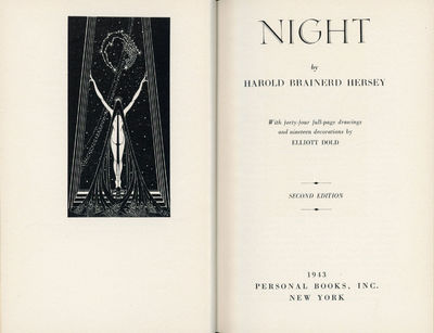 New York: Personal Books, 1943. Octavo, 44 full-page drawings and 19 decorations by Elliott Dold, cl...